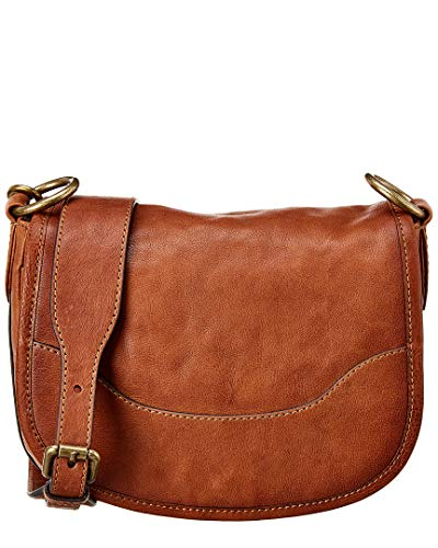 Frye Lucy Saddle Cognac Polished Full Grain One Size