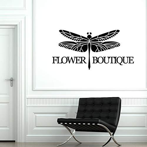 sanzangtang Blume Boutique Vinyl Wandapplikationen Shop Dekoration Aufkleber Wandbild 86x42cm