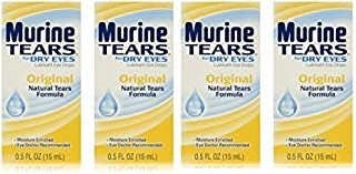 (Lot of 4) Eye Lubricant Drop for Dry Eye By Murine Tears 0.5oz each