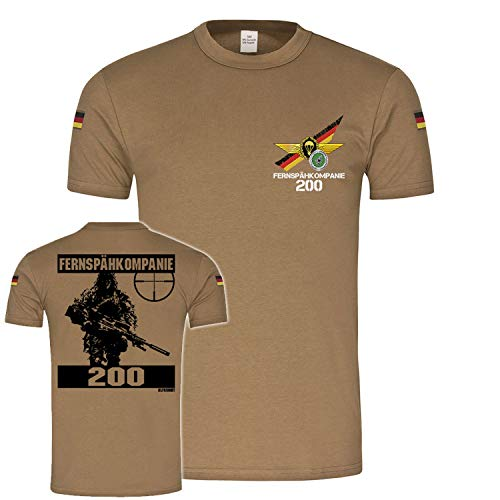 Copytec BW Tropen Fernspähkompanie 200 Scharfschütze Sniper Bundeswehr Veteran Abzeichen FeSpähKp Pfullendorf Tropenshirt#22336, Größe:S, Farbe:Khaki