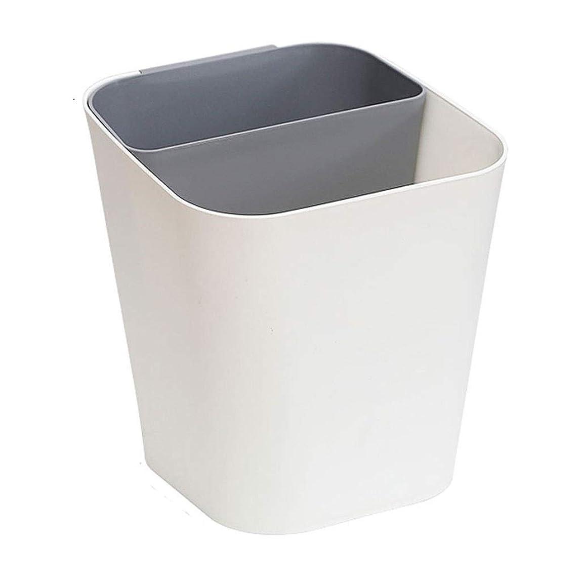 注釈予約緊張ゴミ箱丈夫なゴミ箱 シンプルなスタイル乾式および湿式分離ゴミ箱クリエイティブホームリビングルームキッチンプラスチックゴミ箱 バスルーム、寝室、オフィス用 (Color : Gray, サイズ : S)