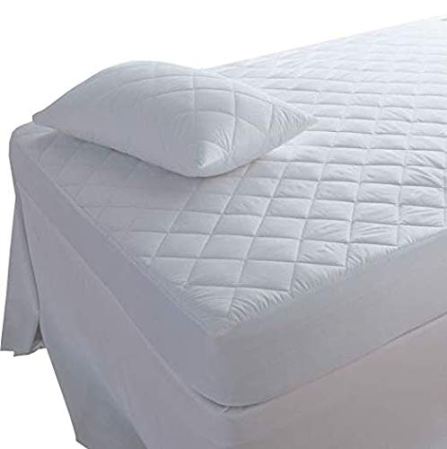 BEDWAY - Extra Deep Super King, Quilted Mattress Protector, Anti-Allergy (Super King,180cm x 200cm + 30cm)