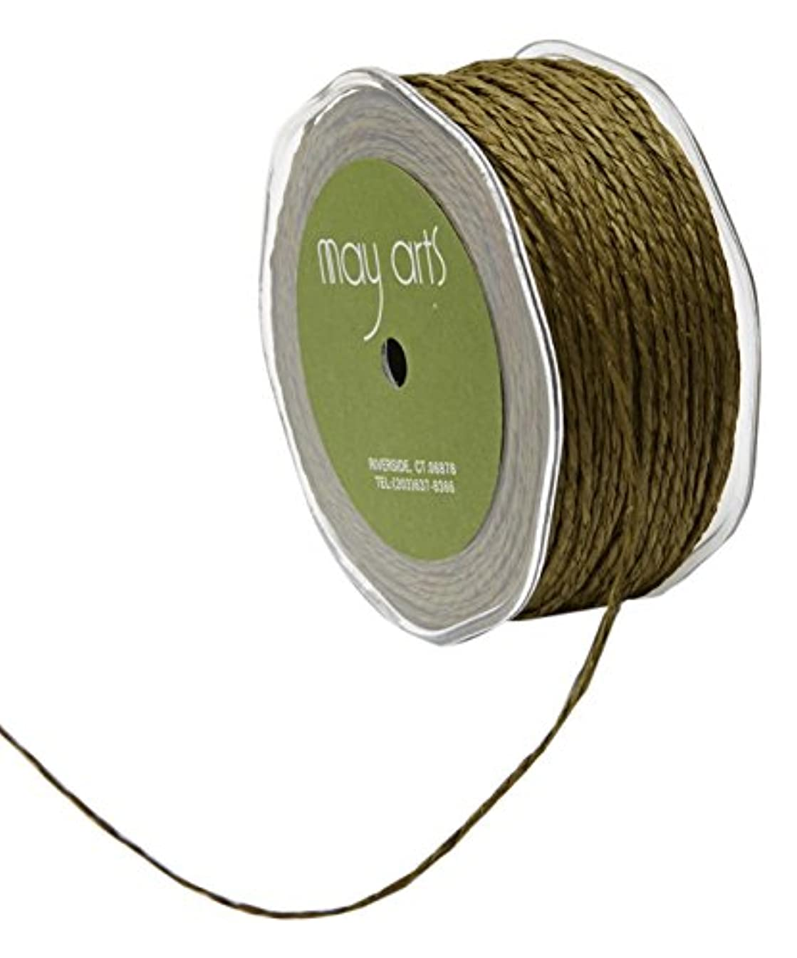 May Arts Paper Cord Ribbon 100 yd Olive