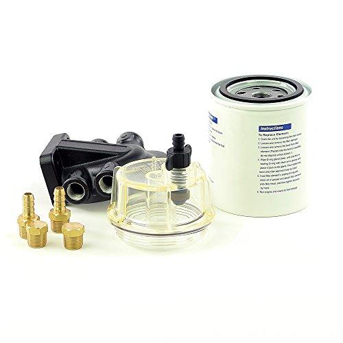 wellenshop Benzinfilter Benzin Bootsmotor mit Wasserabscheider
