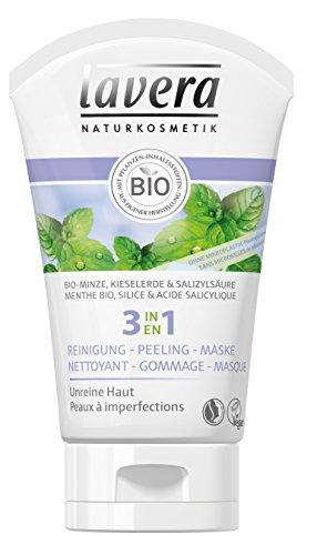 lavera 3 en 1 Nettoyant + Gommage + Masque - Vegan - Cosmétiques naturels - Ingrédients végétaux bio - 100% naturel 125 ml