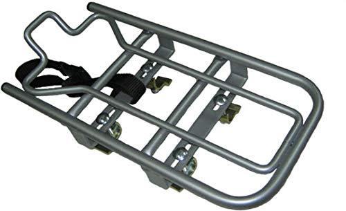 STECO Aufsatz-Gepäckträger Stahl, Universal-Adapter zur Montage auf dem Gepäckträger