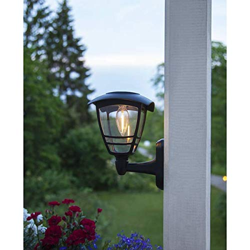 Kamaca Wetterfeste LED SOLAR Wandleuchte Außenleuchte Wandlaterne Sicherheitslicht Dekoleuchte Garten Terrasse (LED Wandleuchte Felix)