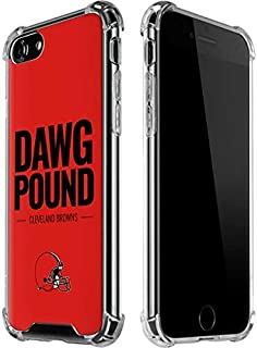 Skinit Clear Phone Case for iPhone 8 - Officially Licensed NFL Cleveland Browns Team Motto Design