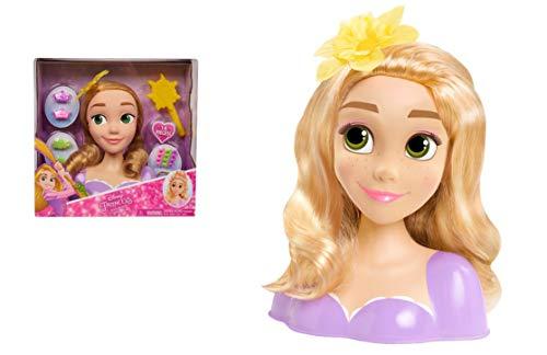 Disney Princesses - Raiponce, Tête à Coiffer Basic, 14 Accessoires de Coiffure inclus, Jouet pour Enfants dès 3 Ans, DNR00