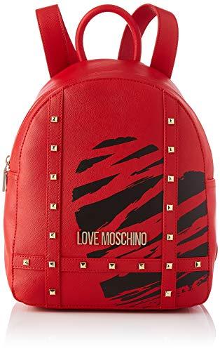 Love Moschino Precollezione SS21 Zaino PU da Donna, Borse a Zainetto, Rosso, medium