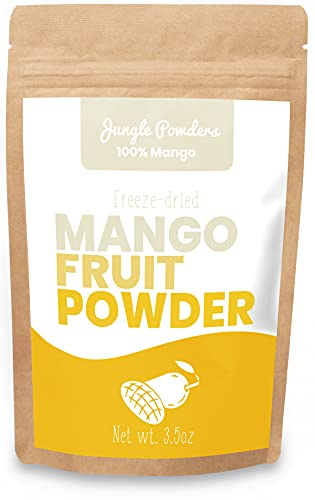 Jungle Powders Mango Powder - 3.5oz 100% Natural Non GMO Vegan Freeze Dried Mango Powder - Super Food Alphonso Mango Extract for Baking…
