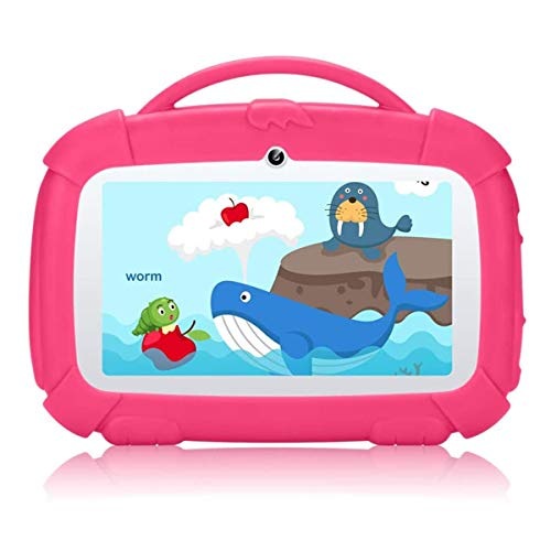 """Qimaoo 7"""" Inch Kids Tablet, Android 9.0 tablet with Parental Control Mode, Google GMS, 1.5GHz Quad Core, 16GB, WiFi, Kid-proof Case - Kid Edition Tablet Pad"""