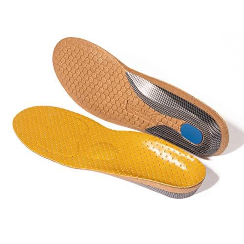 GELTDN Plantari ortopedici Piedi piatti Supporto per arco plantare in pelle microfibra per inserti di scarpe Cuscino per uomo donna (Size : 35-37)