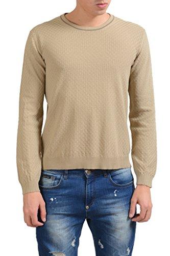 MALO Caramel Brown Men's Crewneck Light Sweater US 2XL IT 56;