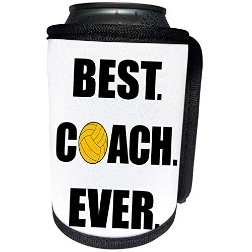 3dRose Best Coach Ever Water Polo - Can Cooler Bottle Wrap (cc_328204_1)