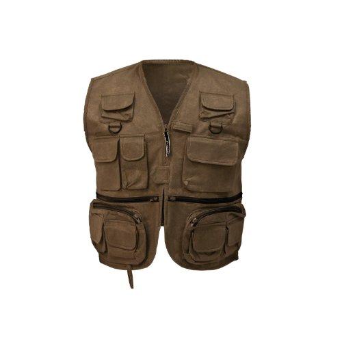 FROGG TOGGS mens Cascades Classic50 Fly Vest,Stone,Medium