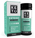 Perfect Keto Ketone Testing Strips: Test Ketosis Levels on Low Carb Ketogenic Diet, 100 Urinalysis Tester Strips Best for Accurate Meter Measurement of Urine Ketones Tests: by Perfect Keto