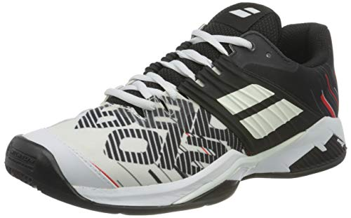 BABOLAT Propulse Fury Clay Men, Zapatillas de Tenis Hombre, White/Black, 41 EU