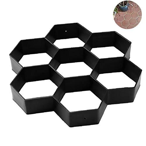 Aisoway Garten Betonformen Pflasterziegelstein für DIY Kunststoff-Hersteller-Form Pflaster Cement Brick Moulds Stone Road Betonformen Werkzeug