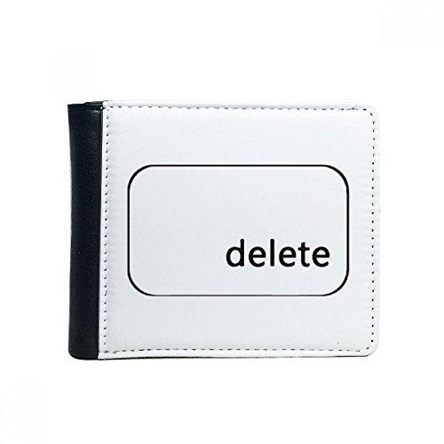 DIYthinker Tastatur Symbol löschen Flip Bifold Kunstleder Geldbörse Multifunktions-Karten-Geldbeutel-Geschenk