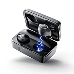 【EXCLUSIVE SOUND QUALITY】Features with the most advanced Bluetooth 5.0 technology ensures an incredible stable and swift connection, together with personalized 6mm TWS earbuds endow a premium and fined-tuned music quality for you. 【FULL-AUTOMATIC PAI...