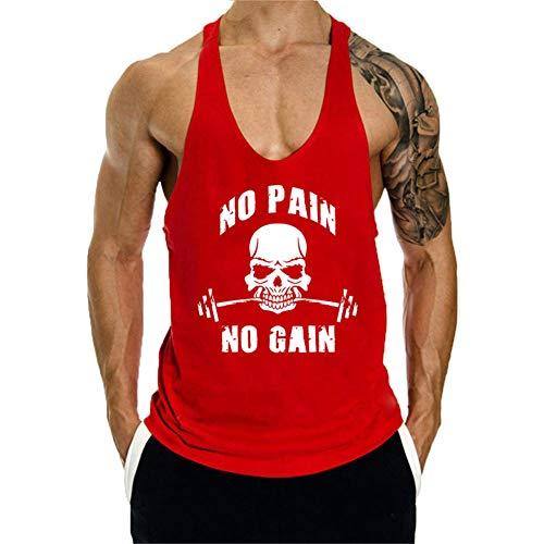 Camisetas de Tirantes Entrenamiento Fitness Gimnasio Chaleco Músculo Tops Camisa sin Mangas Fit para Hombre
