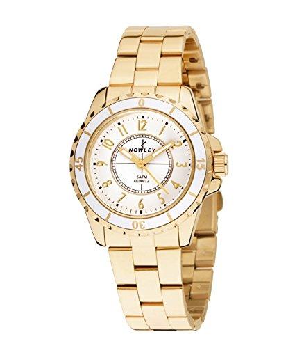 Reloj NOWLEY 8-5323-0-1 - Reloj Mujer 5 ATM con Caja chapada con Bisel Giratorio y armys con Cierre de Muelle.