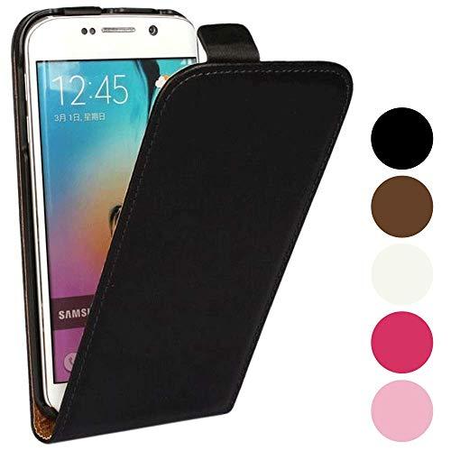 Roar Handy Hülle für Sony Xperia Z1 Compact Handyhülle Flipcase Tasche Schutzhülle Handytasche [Business PU Leder Flip Hülle mit Magnetverschluss] - Schwarz