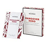 Hangover Hero Facial Sheet Mask, detoxifying charcoal infused sheet mask with black tea and spinach...