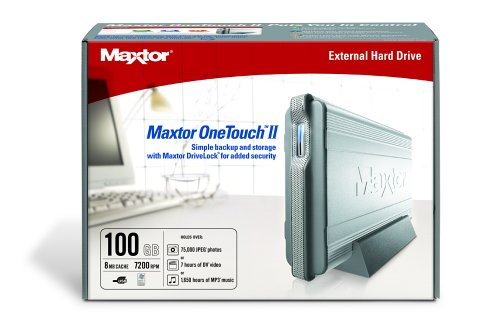 Maxtor One Touch II 100 GB USB 2.0 External Hard Drive (E01E100)