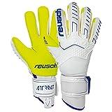 Reusch Attrakt Freegel G3 Ortho-Tec Goalkeeper Gloves - White-Blue-Volt 10