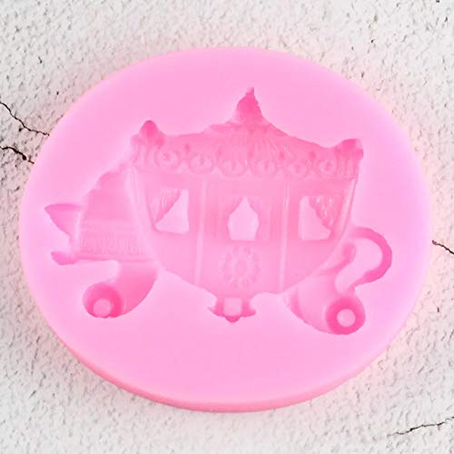 GEYKY Herramientas de decoración de Pasteles DIY Molde de Silicona para Carro de Boda Moldes para Hornear Galletas Candy Chocolate