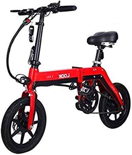 CASTOR Bicicleta electrica Bicicletas, Bicicleta eléctrica Plegable para Adultos, Bicicleta de conmutación, batería de Litio 36V / 10AH con 3 Modos de equitación