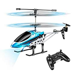 【EASY REMOTE CONTROL HELICOPTER】Fly easy with 1-Key Lift/Land and Trim Control to correct drifting and tilting; the RC helicopter hovering at a certain height automatically after taking off/landing, and there is flying demo, it is easy to operate for...