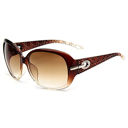 O-C de la mujer clásica estilo gafas de sol 60mm Tea