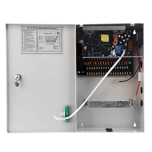 Caja de Fuente de alimentación de Ventilador de refrigeración Natural Fuente de alimentación de Acceso a la Puerta 12V-30A-18CH Caja de Fuente de alimentación de Control de Acceso confiable