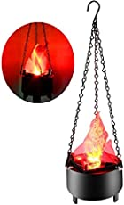 Portable Hanging Light 3D Flickering Fake Fire Simulation Flame Effect Light for Party Stage Night Clubs Mobile DJs Schools Back Yard Decor Lighting (3D Triangle Flame Hanging,1PCS))