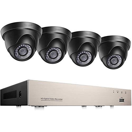 Outdoor 1080P videobewakingssysteem 8CH 1080N 4IN1 DVR met 4 HD 1080P 2.0MP dome bewakingscamera set, 20M IR nachtzicht, mobiele telefoonweergave, bewegingsdetectie