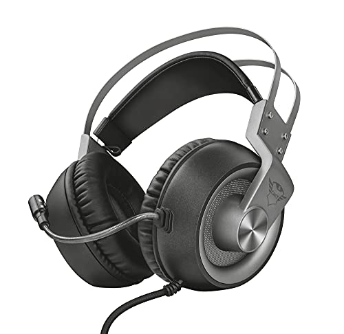 Trust Cuffie Gaming GXT 430 Ironn con Microfono Flessibile e Archetto Autoregolabile, 3.5 mm Jack, Filo, Over Ear, PC, PS4, PS5, Xbox Series X, Xbox One, Switch, Nero