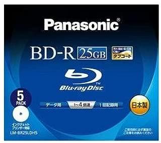 パナソニック Blu-rayディスク 25GB (1層/追記型/4倍速/ワイドプリンタブル5枚) LM-BR25LDH5