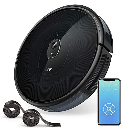 Robotic Vacuums, dser 1600Pa Robot Vacuum Cleaner, Wi-Fi Connected, 2 Boundary Strips, Cleans for Carpets and Pet Hair, Compatible with Alexa (RoboGeek 21T) Dining Features Kitchen Robotic Vacuums