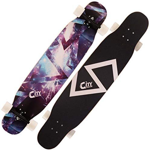 QINGMM Complete Skateboard Cruiser Skateboard 46 Zoll - Skate-Brett Longboard mit bunten Blitzen-Räder für Anfänger Starter für Kinder Jungen Mädchen Erwachsene