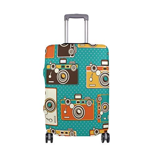 MyDaily Vintage Fotokameras, Gepäckabdeckung, passend für 45,7-81,3 cm Koffer, Spandex, Reisegepäckschutz