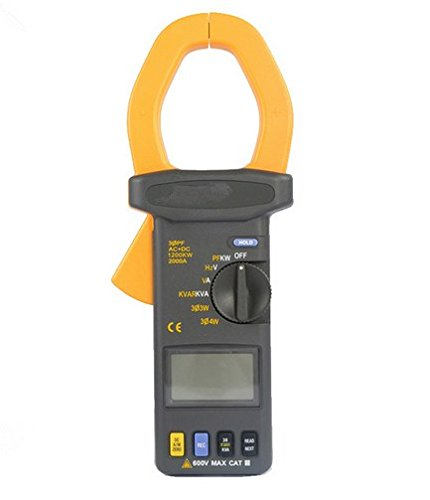 Gowe AC + DC 2000A 600V Power Factor PF Power Clamp Meter