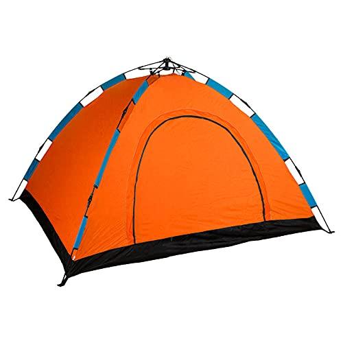 Aktive - Tienda Camping iglú para 4 personas, auto montable, medidas 200 x 200, color naranja (85079) ⭐