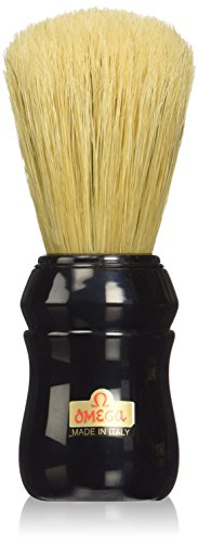 Omega Pure Bristle 10049 Shaving Brush, Black