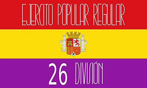 magFlags Bandera Large Reproducción de la Bandera de la 26 División del Ejército Popular de la II República Española | Bandera Paisaje | 1.35m² | 90x150cm