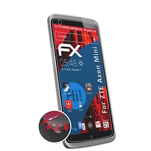 atFolix Schutzfolie kompatibel mit ZTE Axon Mini Folie, entspiegelnde & Flexible FX Bildschirmschutzfolie (3X)