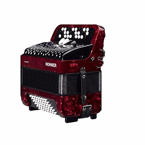ACORDEON CROMATICO - Hohner (A1233) (Nova II) (60 Bajos) (Rojo con...