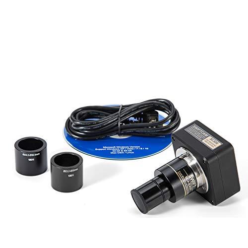 SWIFT Swiftcam - Cámara de microscopio de 5 megapíxeles con lente reductora y adaptador de calibración y cable USB 2.0, compatible con Windows/Mac/Linux